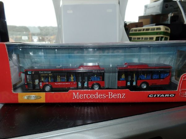 CMNL UKBUS5103 Bendy Articulated Bus Mercedes Citaro Red Arrow 507 MIMB